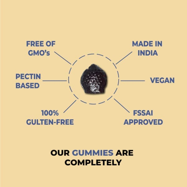 Our multi vitamin gummies are FSSAI approved, gluten, gelatin and GMO free and the best part is it is made in india
